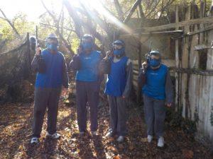 El equipo azul: Oscar, Victor, Carlota y Nadia